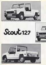 Scout - 127 Fiat Kit Car Fiberfab brochure/prospekt/folder German Rare/Selten
