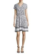 MICHAEL MICHAEL KORS V-Neck Mixed Print Dress Size M MSRP $110.00