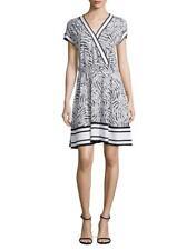 MICHAEL MICHAEL KORS V-Neck Mixed Print Dress Size L MSRP $110.00