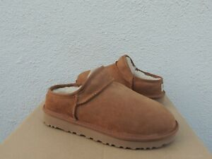 UGG CHESTNUT WATER RESISTANT SUEDE/ WOOL CLASSIC SLIPPERS, US 10/ EUR 41 ~NEW
