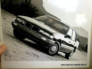 """Pontiac 1988 Grand AM LE Dealership advertisement Picture 8X10"""" picture Photo"""