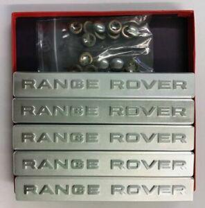 Range Rover Badge Set Of 5 Aluminium Carpet Badges With Fixings