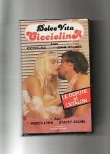 """Rare CURIOSA cassette VHS """" le député et l'étalon"""" HOLMES et CICCIOLINA"""