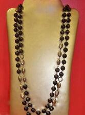 "BRAND NEW-Premier Designs ""NIGHTINGALE"" 59.5"" Black/Brass Necklace-NIB-RV $55"