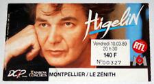 JACQUES HIGELIN billet ticket concert FRANCE Montpellier 10/03/1989