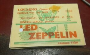 Led Zeppelin at the Locarno in Coventry 1971 - COPY of Ticket