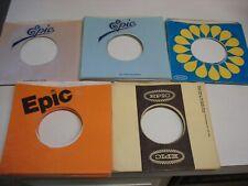 50 VINTAGE EPIC 45 RECORD SLEEVES !