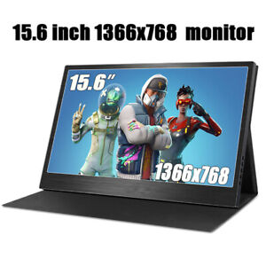"""15.6"""" Touch Screen Portable Monitor HDMI IPS Ultra Slim 1366x768 Type C Monitor"""