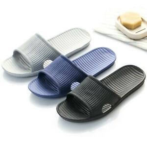 Mens Home Floor Slippers Shoes Sandals Flat Indoor Shower Summer Slides Open Toe