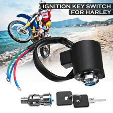 Front Ignition Key Switch 3 Wires For Harley Davidson XL FX Sportster 883