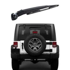 Rear Window Windshield Wiper Arm Blade Set For 2007-2016 Jeep Wrangler JK 2D 4DR