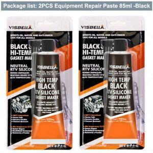 2X 85G Tube RTV Silicone Sealant Black Gasket Maker High Temp Sealant