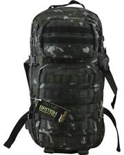 BRITISH ARMY BAG SPECIAL FORCES STYLE 28 LITRE ASSAULT PACK BACKPACK BLACK CAMO