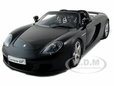 PORSCHE CARRERA GT BLACK WITH BLACK INTERIOR 1:18 BY AUTOART 78047