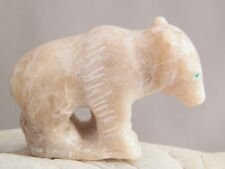 Zuni Indian Bear Fetish Marble Strength Bravery Good Health Hubert Pincion