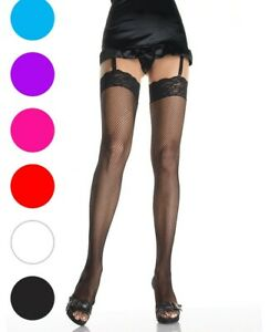 Fishnet Thigh High Stockings With Stretch Lace Top - Leg Avenue 9023