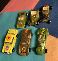 Job Lot Of X6 Zylmex Hot Rod & Cars 1970s Hotwheels Redline Rivals! Neat! Heavy!