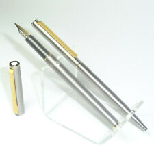 Rare vintage MONTBLANC NOBLESSE TITANIUM fountain pen B nib & ballpoint