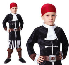 Childrens Pirate Captain Fancy Dress Costume Hook Halloween Outfit Kids Childs S