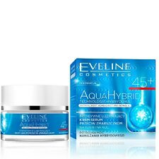 Eveline Firming Anti Wrinkle Face Cream Serum 45 + Day Night Aqua Hybrid 50ml