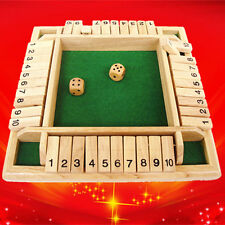 Shut the Box Game Wooden Board Number Drinking Dice Toy Family Traditional Game