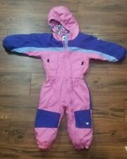 Toddler Baby COLUMBIA Tectonite One-Piece Hooded Ski Suit Snowsuit Size 3T