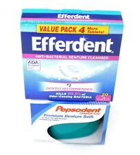 Pepsodent Complete Care Premium Denture Bath Cup Container and Efferdent Bundle