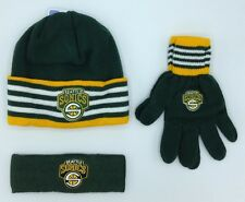 NBA Seattle Supersonics Adidas Youth Knit Hat, Gloves & Headband 3 Piece Set NEW