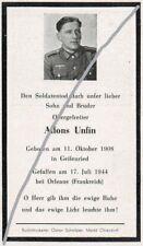 STERBEBILD   AVIS DE  DECES  SOLDAT  ALLEMAND ORLEANS  1944    ( 132 )