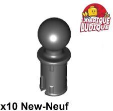 Lego technic - 10x Pin with Friction Towball rotule boule noir/black 6628 NEUF
