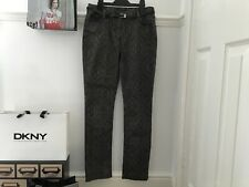 Next Charcoal Grey Black Lace Patterned Skinny Jeans Girl's Age 12 Years New
