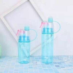 1 Pc Sports water bottle Outdoor creative mist spray with leak proof portable dr