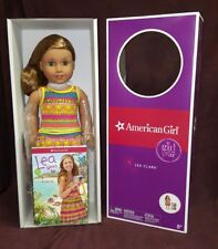 """American Girl Lea Clark 18"""" Doll of the Year 2016 Book Compass Necklace Bag New"""