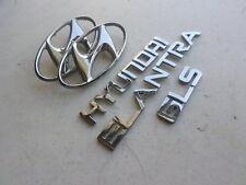 03-06 Hyundai Elantra Gls Front Grille Logo Trunk Badge Script Emblem Decals Set
