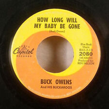 """Buck Owens Everybody needs Somebody How Long Will my baby gone 45 7"""" capitol VG"""