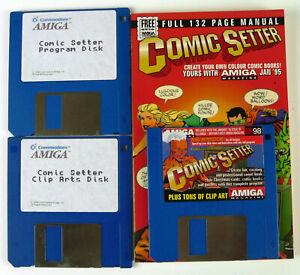 COMIC SETTER & BOOK FOR COMMODRE AMIGA -CU AMIGA MAGAZINE COVER DISK 98 JAN 95