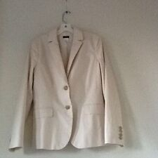 J.crew school boy Tan blazer 97% Cotton Jacket size 6 style 36734 SP 12
