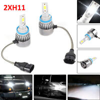 2Pcs H11 9000LM 6000K LED Headlight Driving Fog Light Replacement Bulbs Kit