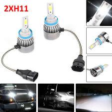 2Pcs H11 9000LM 6000K LED Faros de conducción Luz de Niebla Bombillas De Repuesto Kit