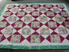 "Handmade Patchwork Quilted / Throw - 80"" x 65"""