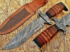 HANDMADE DAMASCUS ART HUNTING DAGER BOWIE CAMP KNIFE