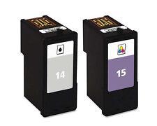 NO OEM reemplaza N º 14 & 15 para Lexmark X2670 Z2300 Cartuchos de tinta