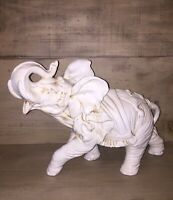Vintage Antique Collectible Ceramic Porcelain Elephant Figurine Statue ITALY