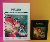 Atari 2600 Berzerk Game & Instruction Manual Tested Works Rare