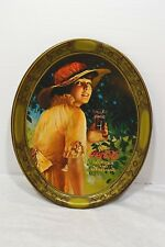 Vintage Coca Cola 1976 1916 World War 1 Girl Advertisement Tin Tray Reproduction