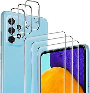 3X Schutzglas ( Display + Kamera ) für Samsung Galaxy A52 Schutz Panzerfolie 9H