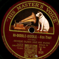 GEORGE OLSEN ORCH. Hi-Diddle-Diddle / COON SANDERS ORIG. NIGHTHAWK O. 78rpm S586