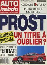 AUTO HEBDO n°699 du 25 Octobre 1989 PORSCHE 911 CARRERA 2