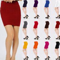 Women's A-Line Mini Skirt Sexy Clubwear Short Pencil Slim Pleated Bodycon Dress