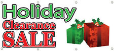 HOLIDAY CLEARANCE SALE BANNER 96in X 36in RETAIL STORE SALE SIGNS Multi Color